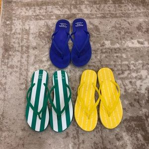 Lot of 3 Abercrombie Flip Flops Size Large